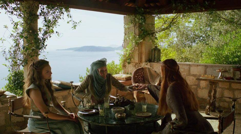 Scene from Game of Thrones that was filmed at Trsteno Arboretum