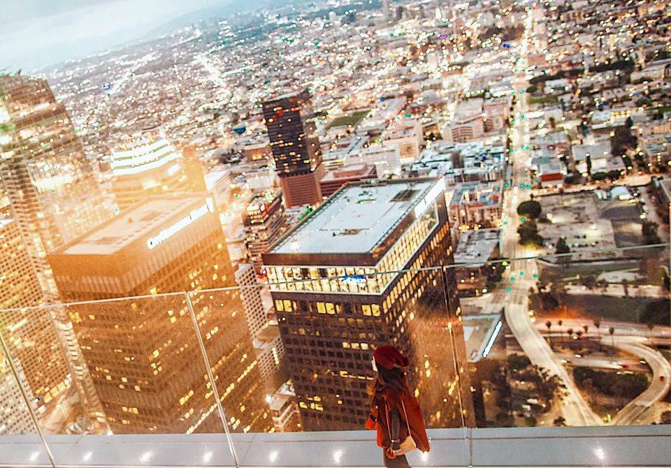 Want To Experience The Skyslide At Oue Skyspace Los Angeles